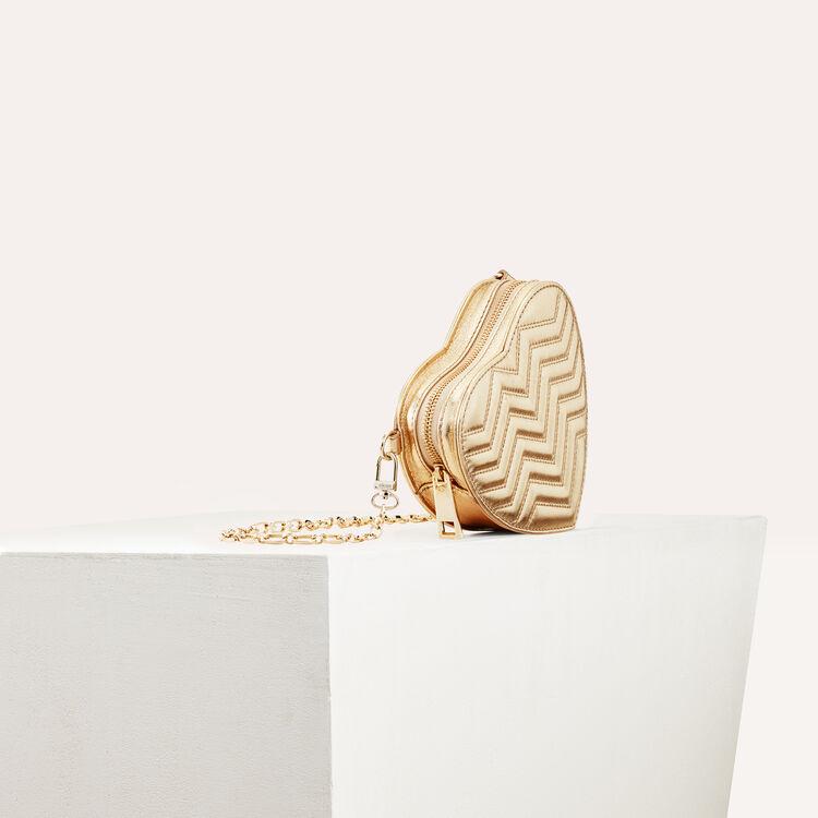 Gesteppte Umhängetasche aus Leder : Sommerkollektion farbe Gold