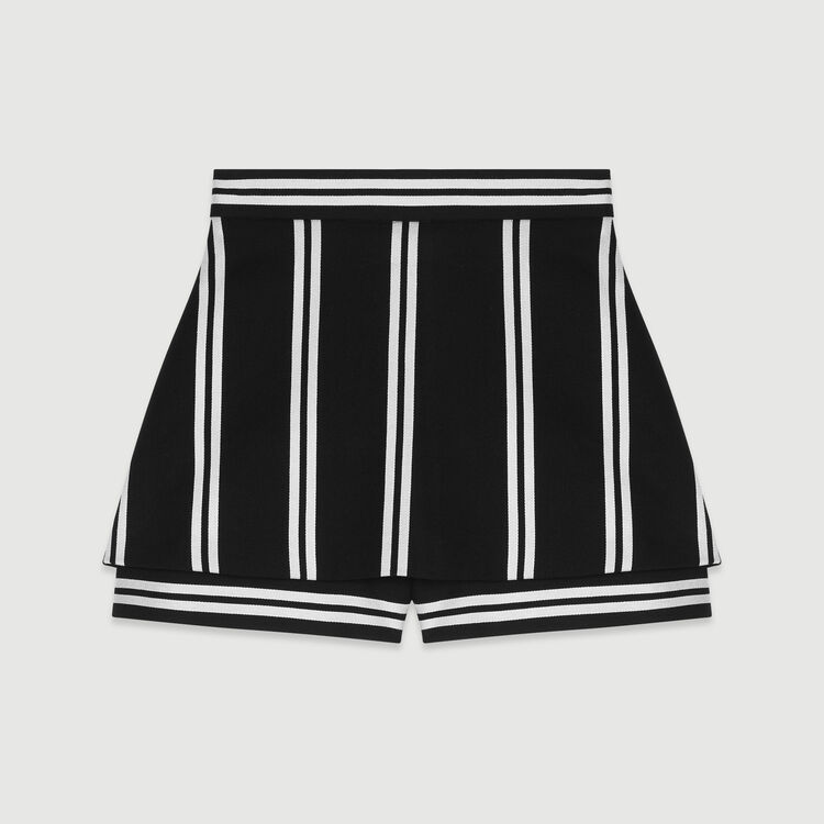 Trompe-L'Oeil Shorts mit Streifen : Röcke & Shorts farbe Gestreift