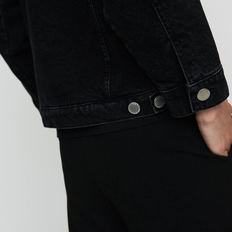 Jeansjacke mit Details : Jacken farbe Schwarz