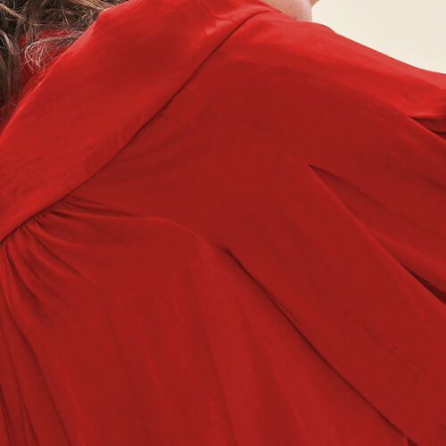 Fließende Hemdbluse aus Crêpe : Tops farbe Rot