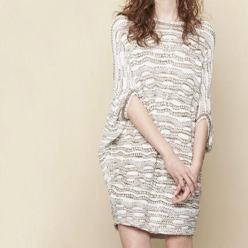 Oversize-Pullover im Poncho-Stil : Pullover und Cardigans farbe Ecru