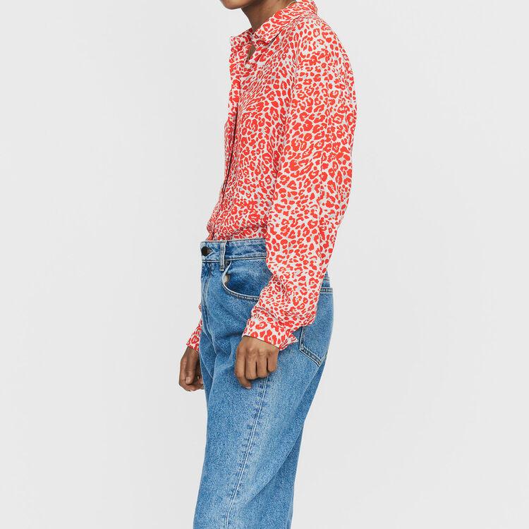 Hemd mit Leoparden-Print : Bekleidung farbe IMPRIME