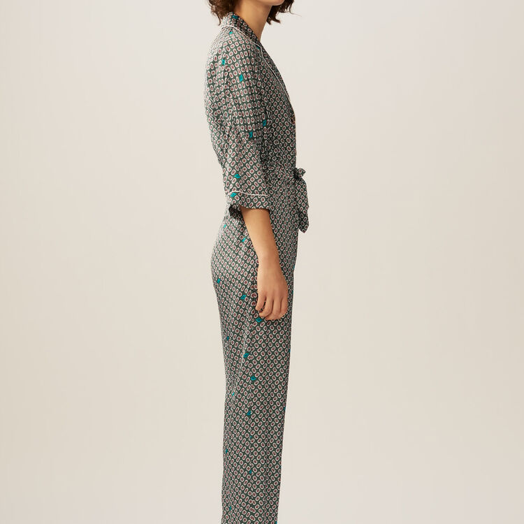 Printed sateen overall : Hosen farbe IMPRIME