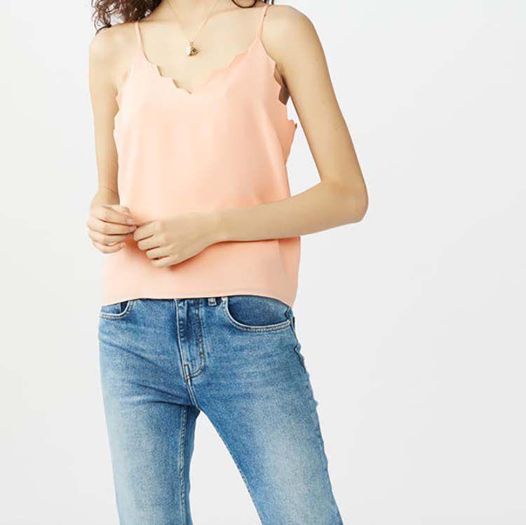 Krepp-Trägerhemd : Tops farbe Rosa