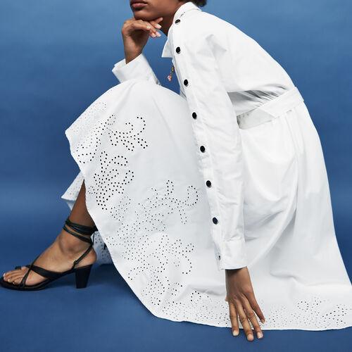 Long belted dress : Alles einsehen farbe Weiss