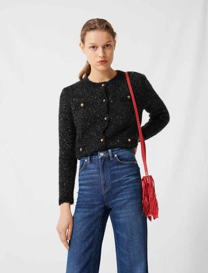 Weite Jeans mit hoher Taille - Hosen & Jeans - MAJE