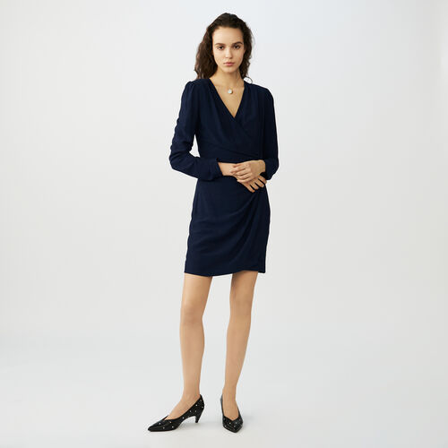 Wrapover dress : Kleider farbe Nachtblau