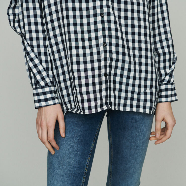 Bluse mit Vichy-Muster : Tops & Hemden farbe CARREAUX
