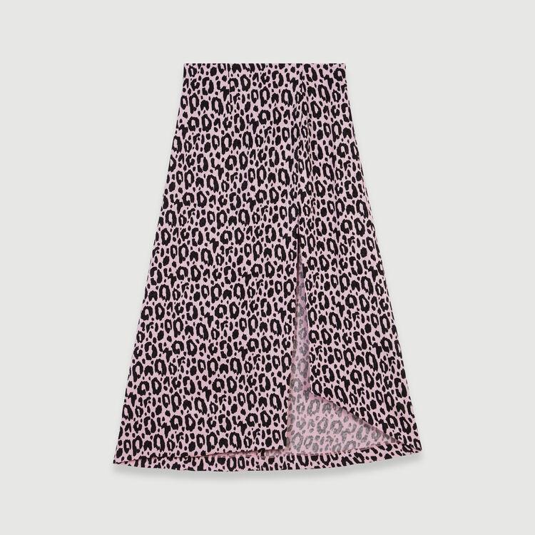 Falten Rock mit Jaquard Print : Röcke & Shorts farbe Rosa
