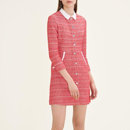 Kleid aus Jacquard : Robes farbe Rot