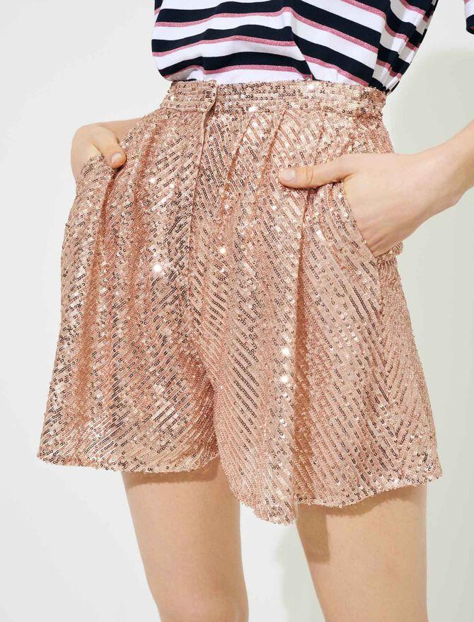 Pailletten-Shorts - Röcke & Shorts - MAJE