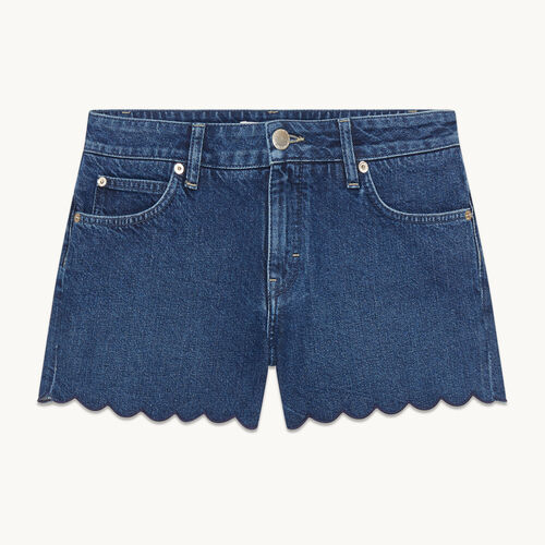 Shorts aus Denim - null - MAJE