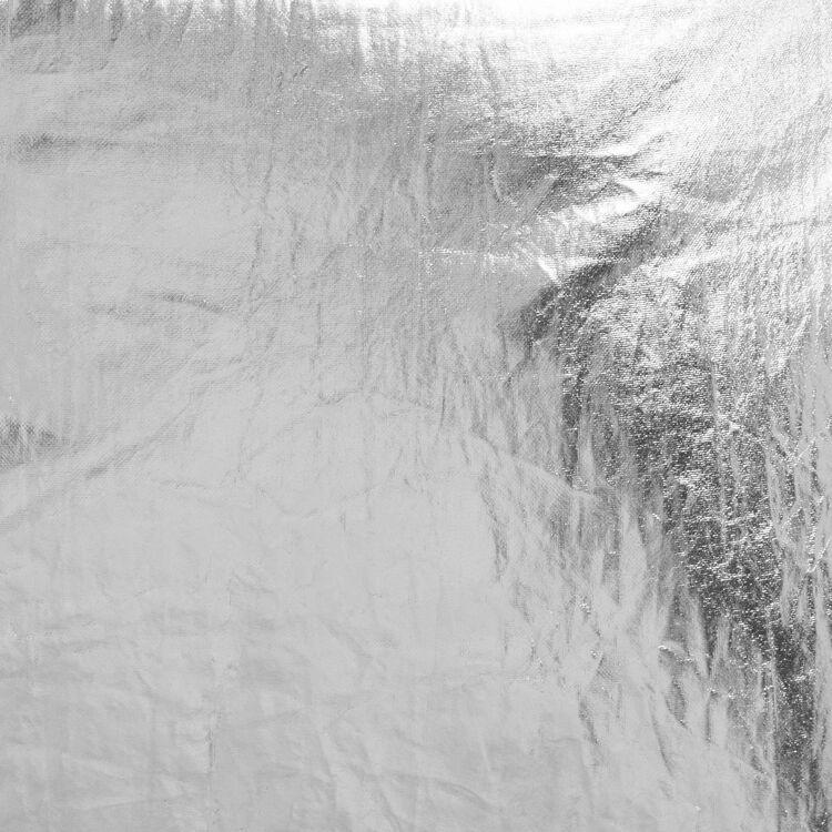 Gürteltasche aus silbernem Stoff : Andere M farbe Silber