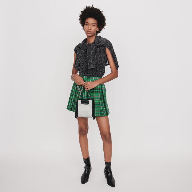 Trompe-L'Oeil Wickel Shorts aus Jacquard - staff private sale 20 - MAJE