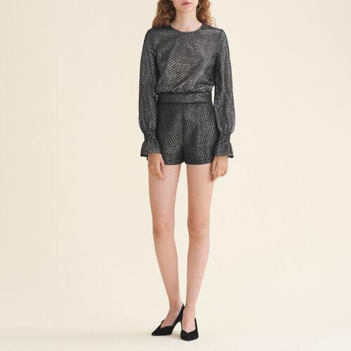 Combishorts aus Tüll und Lurex : Jupes & Shorts farbe Silber
