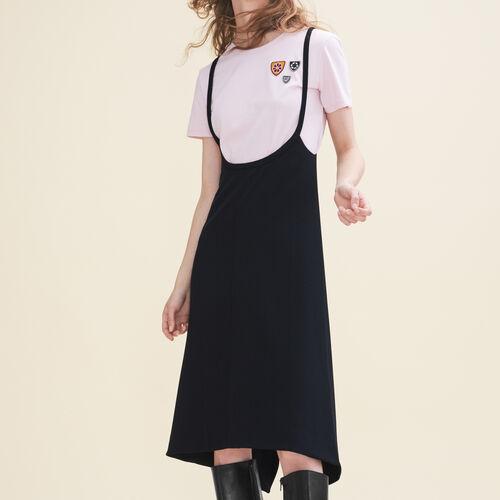 Kurzes Kleid mit Trägern : Kleider farbe Schwarz