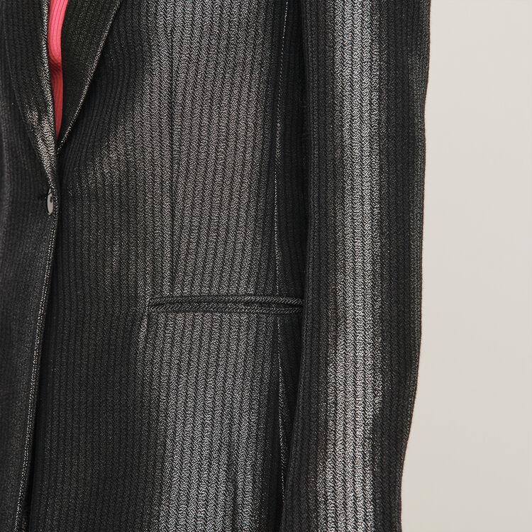 Jacke aus Lurex : Blazers farbe Silber