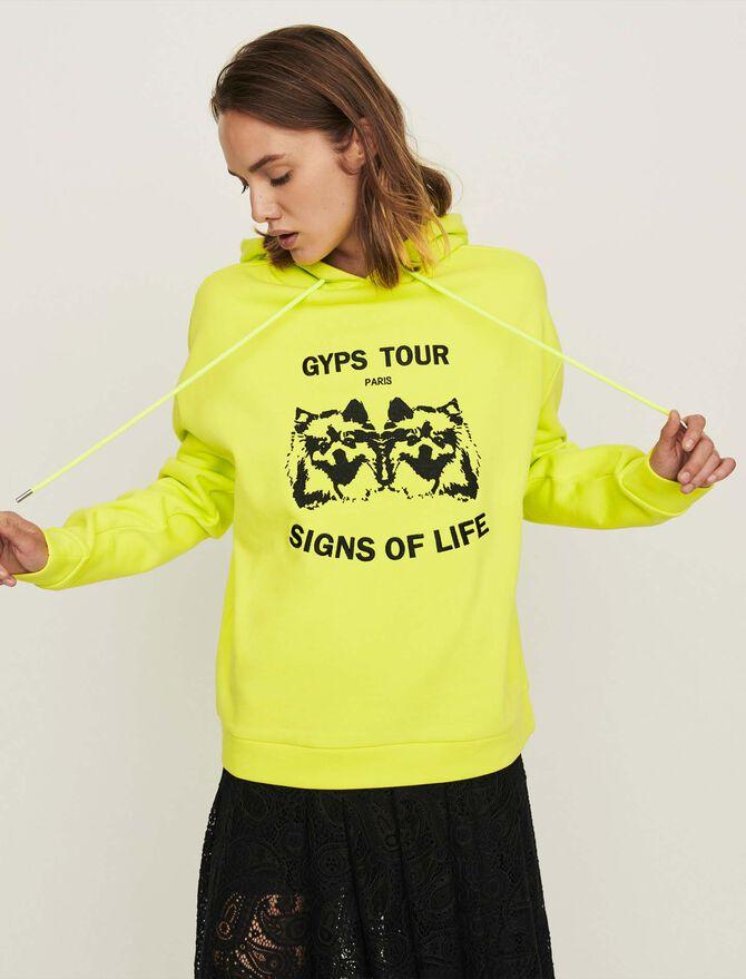 Sweatshirt mit besticker Kapuze -  - MAJE