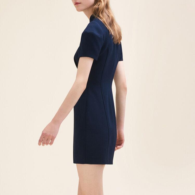 Vestido corto estructurado : Robes farbe Marineblau