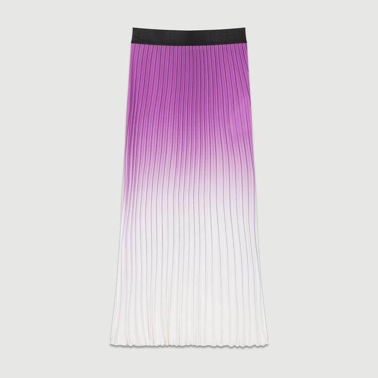 Plissee-Rock in Batikoptik : Röcke & Shorts farbe Violett