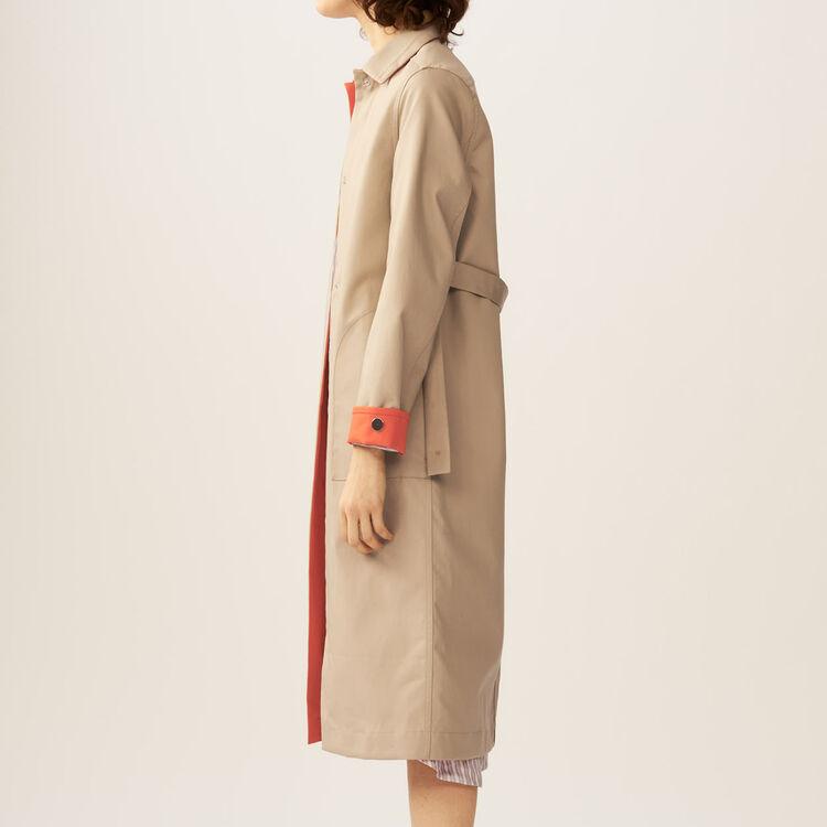 Trench coat : Mäntel farbe Beige