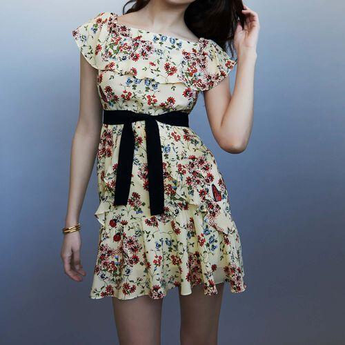 Silk printed dress : Kleider farbe IMPRIME