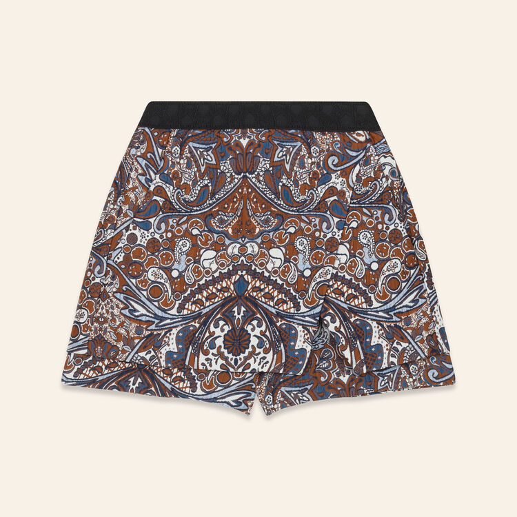 Jacquard-Shorts in 2-in-1-Optik : Jupes & Shorts farbe Jacquard
