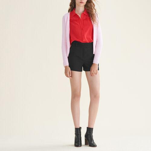 Cardigan mit Seitenreißverschluss : Pulls & Cardigans farbe Schwarz