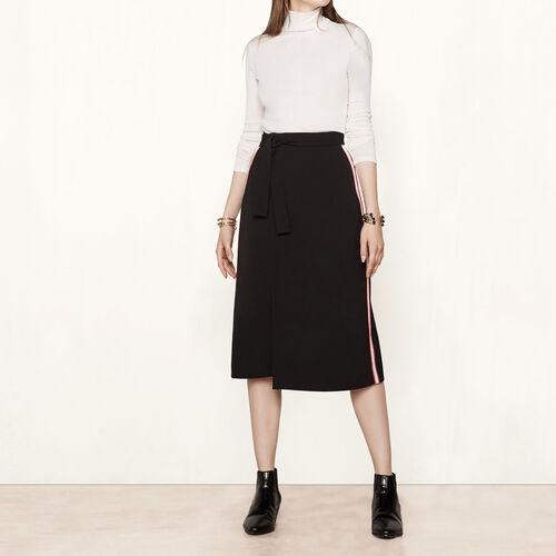 Wickelrock mit Seitenstreifen : Röcke und Shorts farbe Schwarz