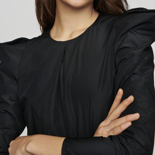 Schultertop aus Taft : Tops farbe Schwarz