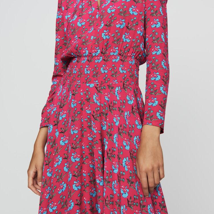 Langes bedrucktes Kleid : Neue Kollektion farbe IMPRIME
