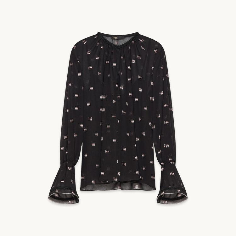Bluse mit Druck und Verzierung : Kollektion farbe
