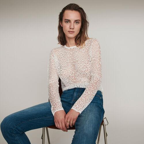 Geflammtes T-Shirt : Winter Kollektion farbe Schwarz