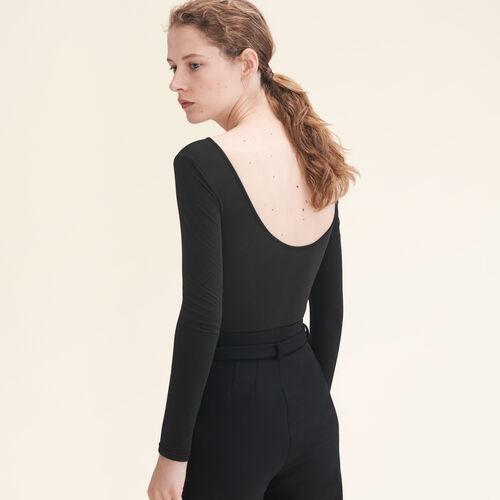 Jersey-Body mit langen Ärmeln : The Must-Haves farbe Schwarz