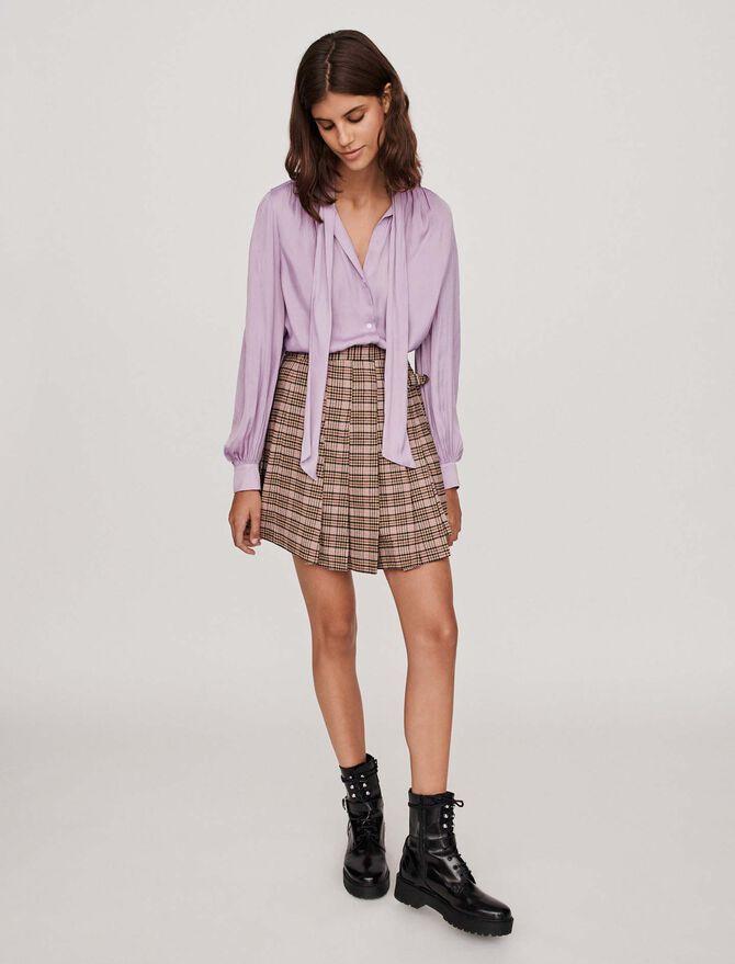 Seiden Hemd mit Lavalliere - Hemden - MAJE