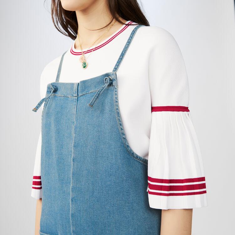 Jeans-Overall mit schmalen Trägern : Jeans farbe Denim