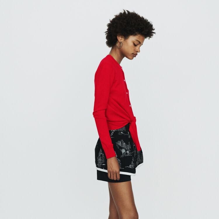 Cardigan mit Knoten : Pullover & Strickjacken farbe Rot