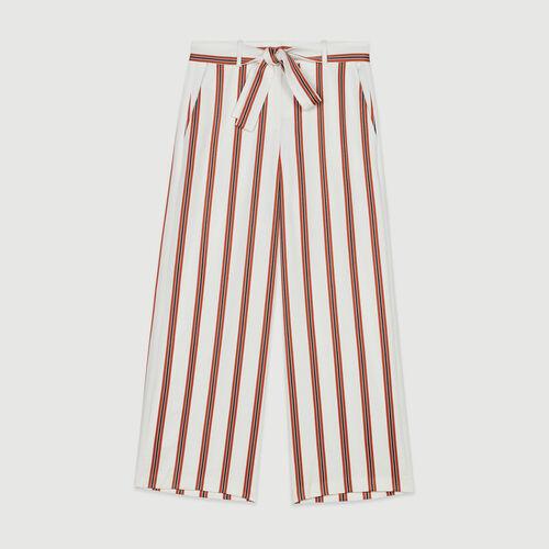 Weite Streifen Hosen mit Gürtel : Hosen & Jeans farbe Gestreift