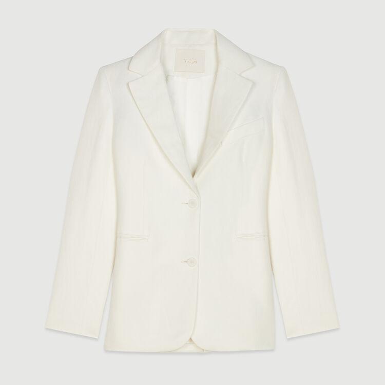 Blazer aus Leinen-Mischgewebe : Blazers farbe Weiss
