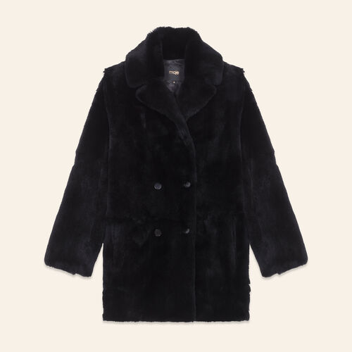 Mantel aus Kaninchenpelz - Mäntel - MAJE