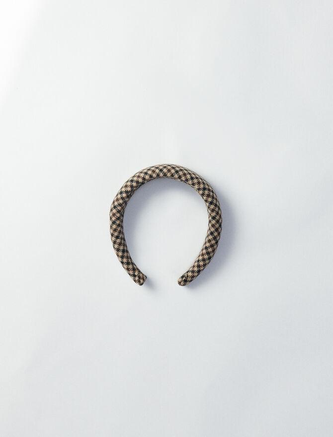 Plaid headband -  - MAJE