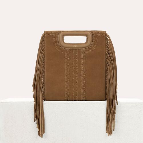 M Tasche aus gestepptem Leder : M Tasche farbe Camel