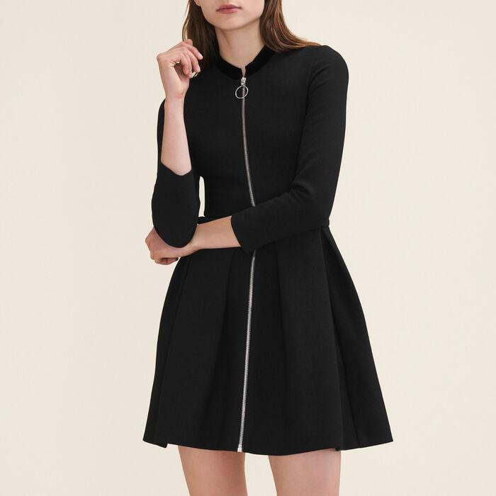 Kleid mit Reißverschluss : Bekleidung farbe Schwarz