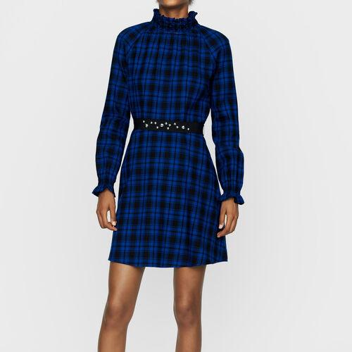 Kurzes Karo-Kleid : Kleider farbe CARREAUX