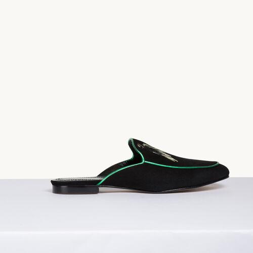 Slipper aus Velours - Schuhe - MAJE