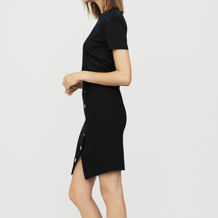 Bleistiftrock mit Knöpfen : Röcke & Shorts farbe Schwarz
