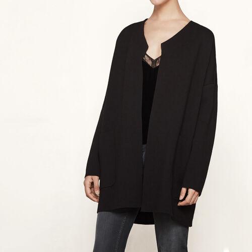 Oversize-Cardigan aus Strick : Pullover und Cardigans farbe Schwarz