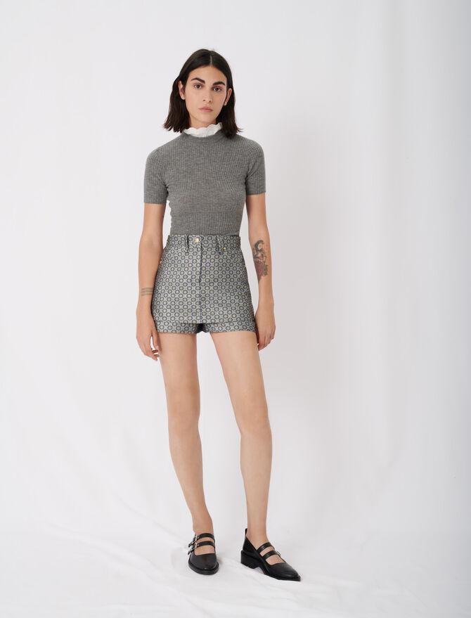 Trompe-l'œil-Shorts aus Jacquard - Neue Kollektion - MAJE