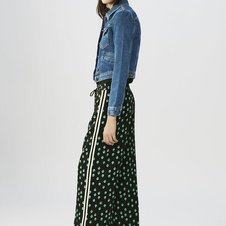 Fließendes Hemd mit langen Ärmeln : Hosen farbe IMPRIME