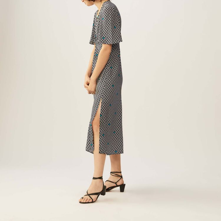 Langes bedrucktes Kleid : Kleider farbe IMPRIME